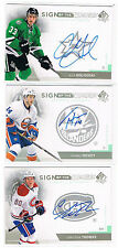 2013-14 ALEX GOLIGOSKI UD SP AUTHENTIC SIGN OF THE TIMES AUTO #SOT-AG STARS
