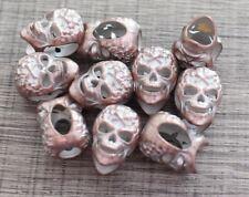 Metal Bead Lot 10 M Oxide Copper Skull Paracord Lanyards Bracelets Crafts DIY