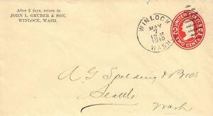 1910 Winlock Washington John L Gruber & Son General Merchandise Store Ad Cover
