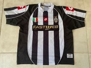 Maillot Juventus Turin 2002 Fastweb vintage taille XL jersey Lotto maglia