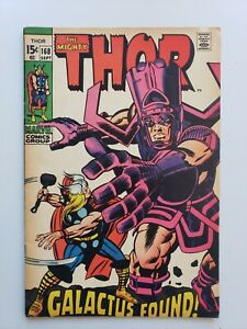 The Mighty Thor #168 (1969) Marvel Comic Book Galactus Origin Key Upper MidGrade