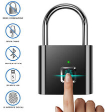 LUCCHETTO PER IMPRONTA DIGITALE SMART USB RICARICABILE BORSA VALIGIA PALESTRA