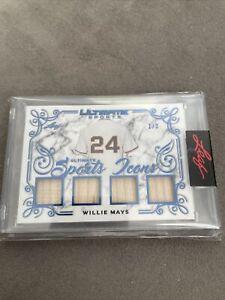 2021 Leaf Ultimate Sports Willie MAYS  Quad Game Used  Bat # 1/3