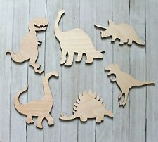 """Deluxe Large 12"""" Dinosaurs Boy's Room Decor T REX Unfinished Wood Cutout Crafts"""