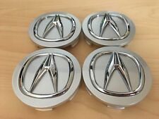 Silver Acura 58mm (2 1/4 inches) Set of 4 Wheel Center Caps fits OEM Wheels
