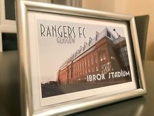 "Rangers FC - Retro ""Visit Ibrox Stadium"" Style Print (1 of 50)"