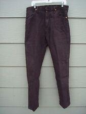 Wrangler Mens Sz 33 x 34 Brown Cowboy Cut Original Fit Jeans Pants 13MWZKL