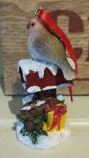Vintage Navidad Decoración Ornamento De Correo Caja de correos Robin inglés del árbol de Navidad