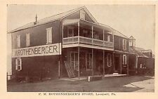 B87/ Leesport Pennsylvania Pa Postcard c1910 F.M. Rothenberger's Store
