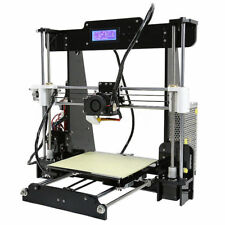 Anet A8 Prusa i3 Filament 3D Printer - Black  and red, unbuilt + pla filament.