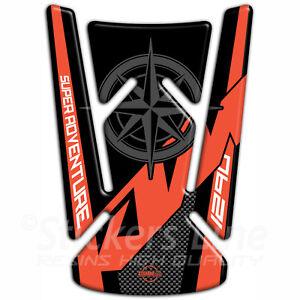 Paraserbatoio adesivo 3D compatibile per moto KTM 1290 SUPER ADVENTURE K#1