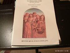 Alexander Glazunov, ed La Forge: La Primavera D'Or, high voice & piano (Masters)