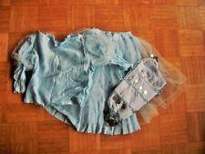 "@CARNAVAL@ komplett-kostüm tul azul claro ""Princesa De Hielo"" Edad 6-8 Talla"