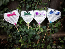 Memorial heart PURPLE-Baby funeral verse-Child Grave Ornament-PersonalisedPlaque