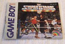 NINTENDO GAME BOY INSTRUCTION MANUAL *** WWF SUPERSTARS 2 *** USED