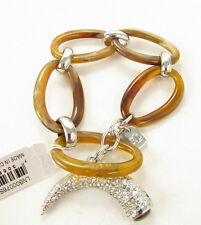 Ralph Lauren Silver Tone CANYON CHIC Pave Horn Toggle Bracelet LNB00076S210 $68