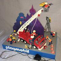 """Playmobil Display Diorama""""Feuerwehr-Großeinsatz"""", Rarität beidseitiges Motiv,Top"""