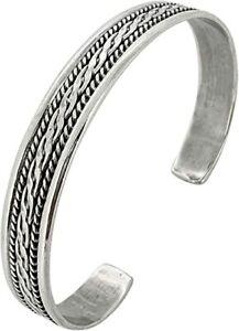 FAB 925 Sterling Silver Bangle Bracelet for Men and Women