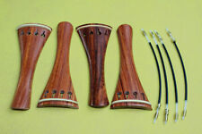 4Pc new rosewood violin 4/4 tailpiece With nylon tail gut violin Accessories