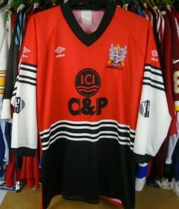 WIDNES RLFC 1990-1992 HOME UMBRO RUGBY LEAGUE SHIRT JERSEY TOP XXL