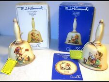 2 Vintage 1978-1979 Hummel Bells First/Second Editions Goebel Germany Bas-Relief
