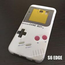 For Samsung Galaxy S6 Edge -HARD RUBBER TPU SKIN CASE COVER GRAY CLASSIC GAMEBOY