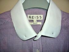 REISS Mens Shirt Size Small Long Sleeve Single Cuff Immaculate condition Cotton