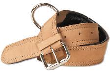 Woodland® Hundehalsband aus Leder für Hunde mit 50-65 cm Halsumfang in Hellbraun