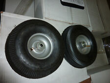 """2 tires 384.10/3.50-4 Wheel & Tire Bearing Assembly 1/2"""" axel new"""