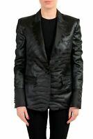 Just Cavalli Black  One Button Tuxedo Women's Blazer US S IT 40