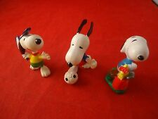 Lot of 3 Snoopy and Woodstock Sports PVC Figures Tennis Golf Soccer Peanuts