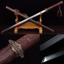 "Top Quality Chinese Sword""Tang Jian""(劍) Pattern Steel Katana  Sharp Blade -0232"