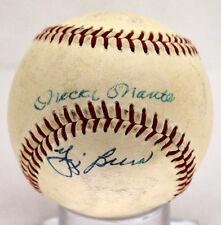 MICKEY MANTLE YOGI BERRA SIGNED AUTOGRAPHED BASEBALL VINTAGE 1950'S JSA B47919
