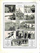 Mitrailleuse Machine Gun Gunners Poilus Artillerie Instruction Château 1916 WWI