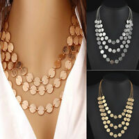 Fashion Women Charm Jewelry Chain Pendant Choker Chunky Statement Bib Necklace