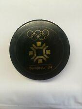 Original SARAJEVO 1984 OLYMPIC  vintage hockey puck