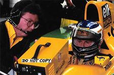 9x6 Photograph, Schumacher & Brawn , Benetton-Ford Portrait  1993 GP Season