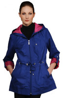 Susan Graver Water Resistant Packable Anorak Jacket with Pop Lining, Size XXS