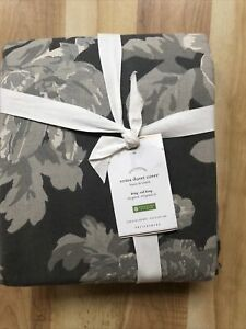 NWT Pottery Barn Foundations Erma    King/Cal King Duvet Cover gray