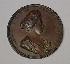 GB. 1694 Mary Death Medal. A large, bronze medal by the Roettier brothers. EF.