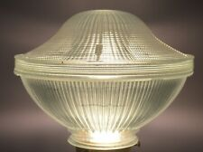 vintage 2 pc. holophane glass shade industrial shop lamp 2 of 2