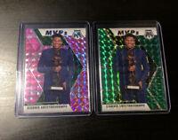 2019-20 Mosaic Mvp Green Pink Camo Giannis Antetokounmpo 2 Card Lot 🔥