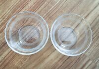 Set of 2 Vintage Pyrex Clear Glass 463 Custard Cups Dessert Bowls Scalloped Edge