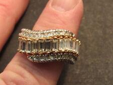 18K Yellow Gold GF  CZ Women  Jewelry Ring