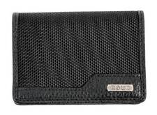 ROUT Competitor Ballistic Card Holder, Full Grain Leather Trim, Black RBN22074
