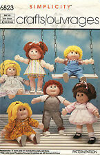 "1980's VTG Simplicity Wardrobe for Dolls Pattern 6823Size 18"" tall"