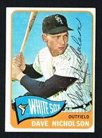 Dave Nicholson #183 signed autograph auto 1965 Topps Baseball Trading Card