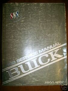 1992 Buick Skylark Repair Service Manual