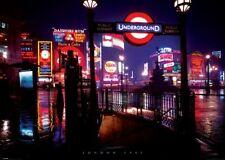 RIESEN Poster LONDON - 1967 Neonlights NEU XL871