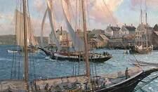 Christopher Blossom ARTHUR JAMES HEADING OUT, sail boat, Schooner, art print